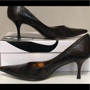 Nine West Nuncio dark brown heels